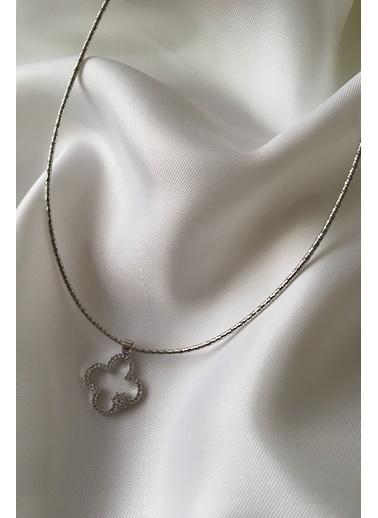 My Joyas Design İnce Zincir Yonca Kolye Gümüş